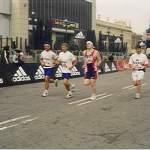 cíl maratonu Barcelona